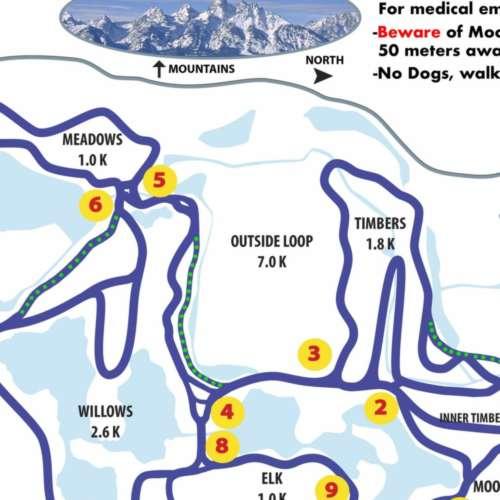 Thumbnail Image Teton Pines Nordic Center - Winter Map