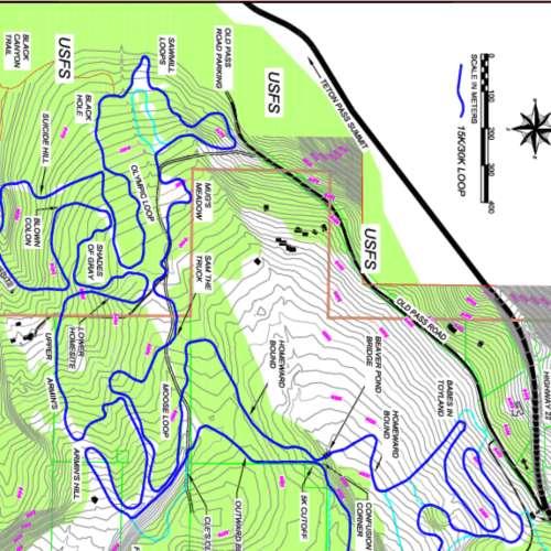 Thumbnail Image Trail Creek Nordic Center - Winter Map