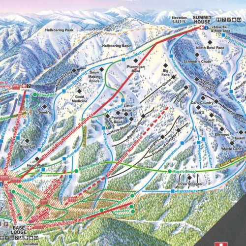 Thumbnail Image Whitefish Mountain - Winter Map